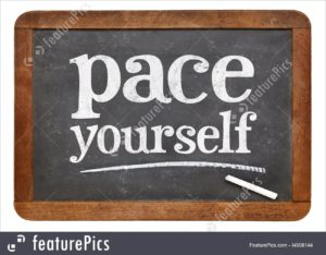setup your own pace