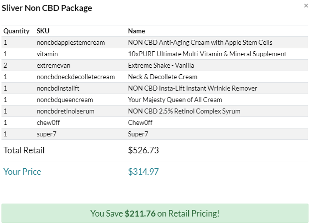 silver business builder nonCBD pack