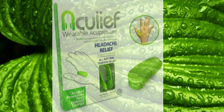 aculief-natural headache migraine tesion relief wearable